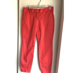 JCrew coral Cafe Capri pants